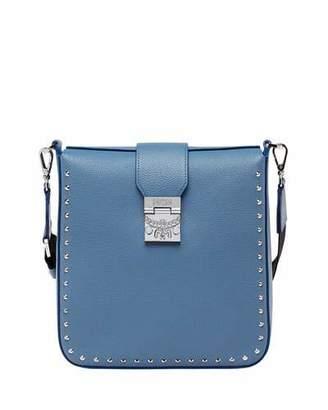 MCM Kasion Medium Studded Outline Park Avenue Crossbody Messenger Bag
