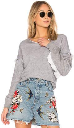 Wildfox Couture Solid Ruffle Sweatshirt