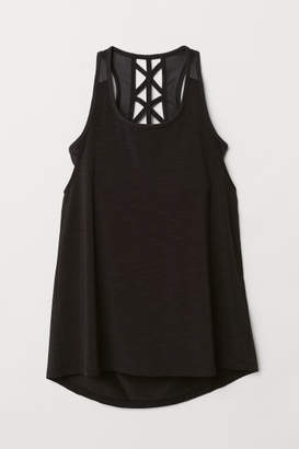 H&M Sports Top with Sports Bra - Black