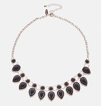 Avenue Jet Teardrop Bib Necklace