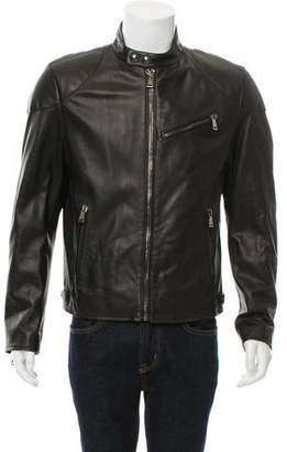 Ralph Lauren Purple Label Randall Leather Cafe Racer Jacket w/ Tags