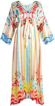 Temperley London Nymph abstract-print silk dress