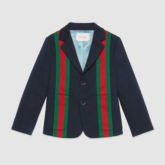 Gucci Children's gabardine jacket with Web