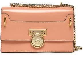Balmain Glossed-leather Shoulder Bag