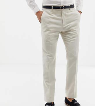 Farah Smart skinny wedding suit pants in linen exclusive