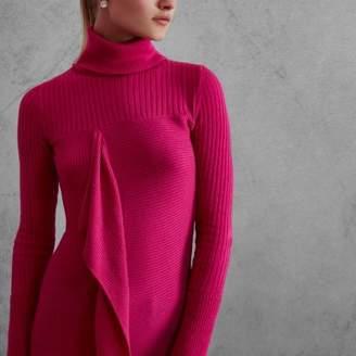 River Island Womens Pink RI Studio rib knit roll neck sweater