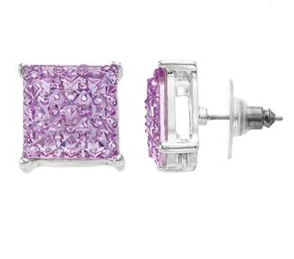 JLO by Jennifer Lopez Simulated Stone Square Button Stud Nickel Free Earrings