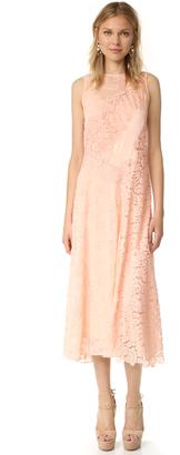 Rebecca Taylor Sleeveless Chevron Lace Dress $675 thestylecure.com