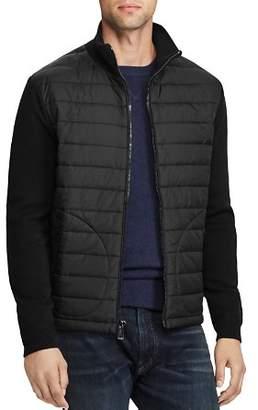 Polo Ralph Lauren Paneled Mock Neck Full-Zip Sweater