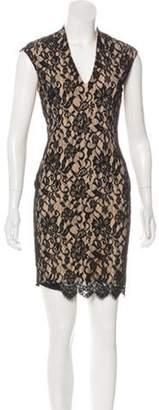 Haute Hippie Lace Mini Dress Black Lace Mini Dress