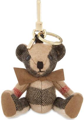 Burberry Thomas Bear check cashmere keyring