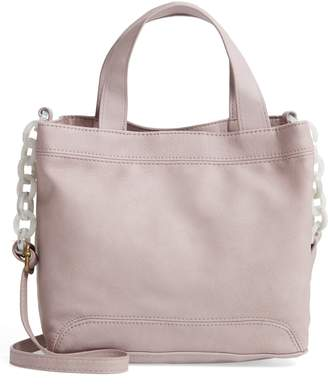 T-Shirt & Jeans Resin Chain Strap Faux Leather Crossbody Bag