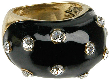 Jeweled Lacquer Ring