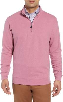 Peter Millar Melange Fleece Quarter Zip Pullover