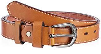 Silver Urbanism Women's Solid Color Classic Leather Fit Belt Large ()