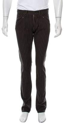 Robert Geller Stripe Flat Front Chino Pants