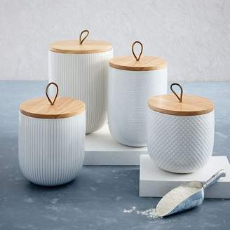 west elm Textured Kitchen Canisters