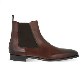 Magnanni Mens Brown Leather Chelsea Boots
