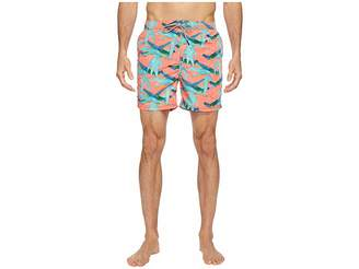 Scotch & Soda Swim Shorts in Polyester Quality with All Over Print and Contrast Inside Waistband Men's Swimwear