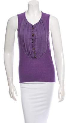 Sonia Rykiel Sleeveless Pleated Top w/ Tags