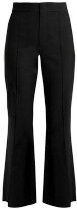 Isabel Marant Reeves Cropped Flared Leg Trousers - Womens - Black