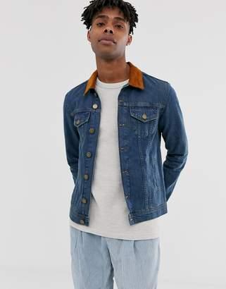 e40968c06efef2 Brooklyn Supply Co. Brooklyn Supply Co denim jacket with collar in blue