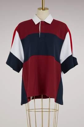 Koché Oversize jersey polo shirt