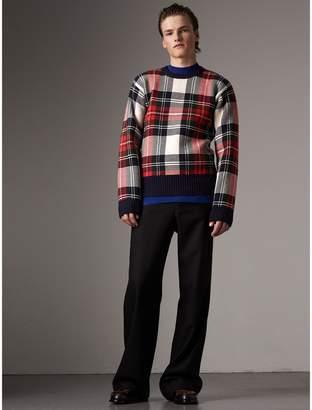 Burberry Tartan Cashmere Wool Sweater