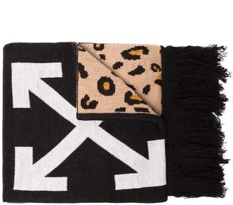 Off-White Printed Wool Scarf