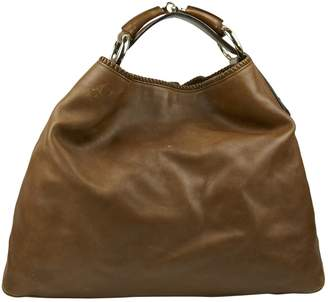Gucci Hobo Camel Leather Handbag
