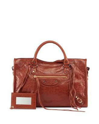 Balenciaga Classic Gold City Lambskin Tote Bag, Cognac $1,835 thestylecure.com