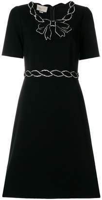 Gucci crystal trim dress