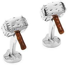 Cufflinks Inc. Cufflinks, Inc. Men's Marvel Sterling Silver 3D Thor's Hammer Cufflinks