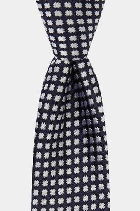 DKNY Navy With White Cross Pattern Tie
