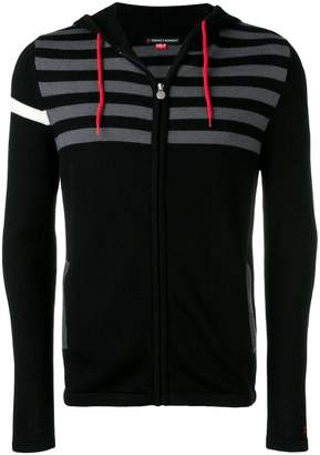 Perfect Moment stripe zip hoodie
