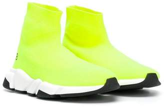 Balenciaga Kids Speed fluorescent sneakers
