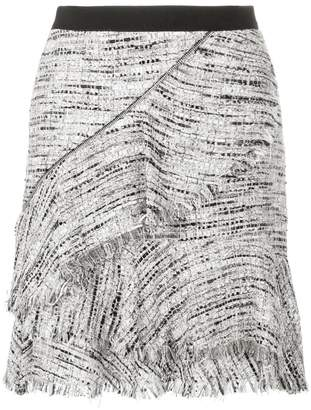 Karl Lagerfeld Boucle Skirt W/Ruffles