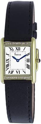 Freelook Women's HA1531G/1A Black leather Band Watch.