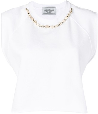 Couture Forte Dei Marmi cropped sleeveless T-shirt