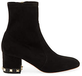 Valentino Women's Rockstud Suede Ankle Boots