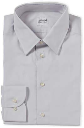 Armani Collezioni Modern Fit Solid Dress Shirt