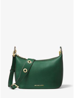 Raven Medium Leather Messenger Bag $298 thestylecure.com
