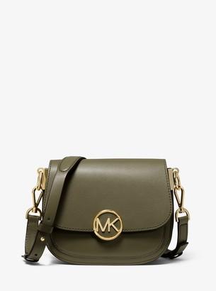 7dc2442cf929 MICHAEL Michael Kors Lillie Small Leather Saddle Bag
