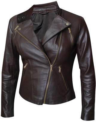 The Sparks Up Inc. - Genuine Leather - Motorcycle Zipper Jacket
