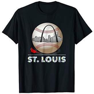 Saint Louis Red Cardinal T-shirt Ball with Skyline City
