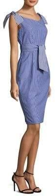 Milly Candice Tie Cotton Sheath Dress