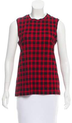 Torn By Ronny Kobo Sleeveless Plaid Top w/ Tags