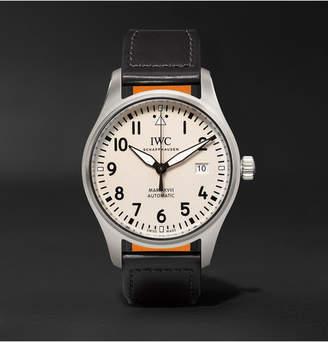 IWC SCHAFFHAUSEN Pilot's Mark Xviii 40mm Stainless Steel And Leather Watch