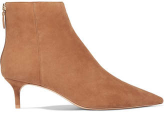 Alexandre Birman Kittie Suede Ankle Boots - Tan