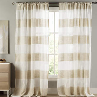 Laurèl Foundry Modern Farmhouse GrandoisStriped Semi-Sheer Rod Pocket Curtain Panels